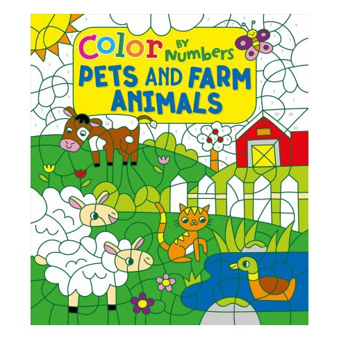 Color By Numbers Pets And Farm Animals By Claire Stamper