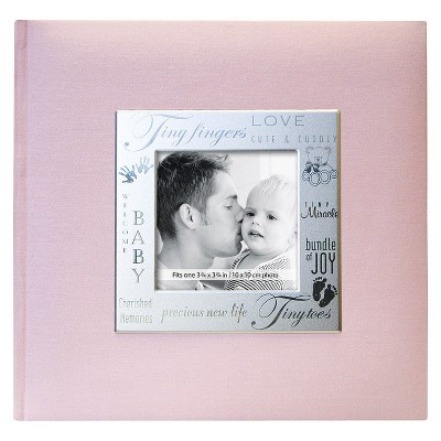 Fabric Expressions Baby Photo Album - Pink (8.5x8.5 )
