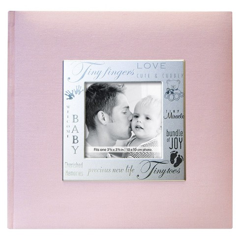 "Fabric Expressions Baby Photo Album - Pink (8.5x8.5"") - image 1 of 1"