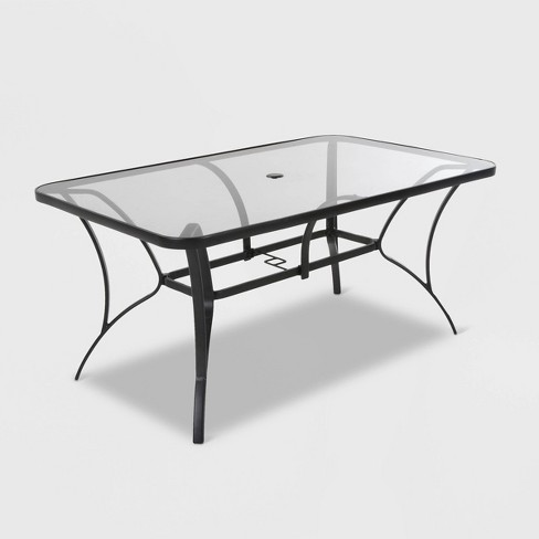 8a3cef665d07 Paloma Steel & Tempered Glass Table Top Patio Dining Table - Gray - Cosco :  Target