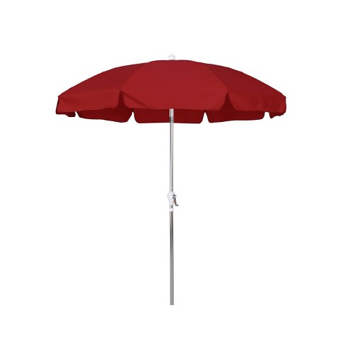 Round Crank Patio Umbrella - Red 7.5' - image 1 of 1