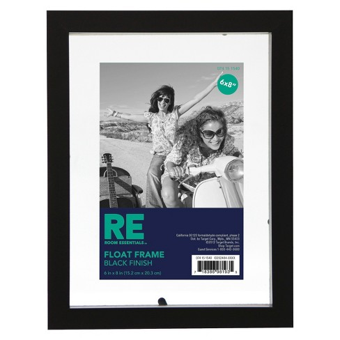 "6""x8"" Float Black Frame - Room Essentials™ - image 1 of 1"