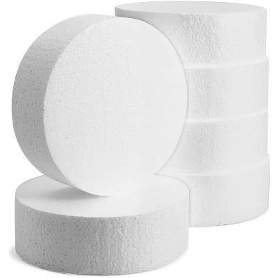 "6 Pack Craft Foam Circles, Polystyrene Round Foam Disc for Art & Craft Supplies (6""x6""x2"")"