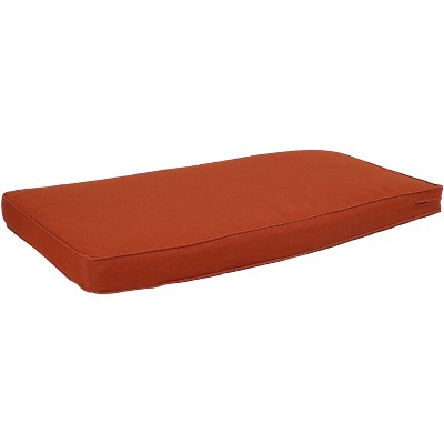 Indoor/Outdoor Bench Seat Cushion - Dark Orange - Sunnydaze Decor