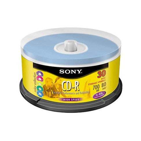 Sony CD-R Spindle 700MB Disc Pack 30ct - image 1 of 1