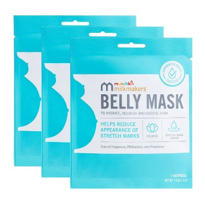 Munchkin Milkmakers 3pk Belly Mask for Pregnancy Skin Care & Stretch Marks