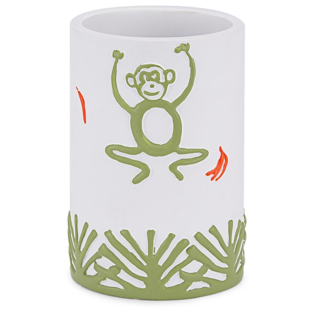 Jungle Bathroom Tumbler White - Kassatex