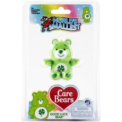 Super Impulse Worlds Smallest Care Bears Mini Plush Toy | Good Luck Bear