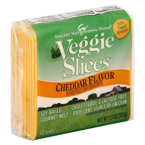 Galaxy Nutritional Foods Cheddar Flavor Veggie Slices - 12ct