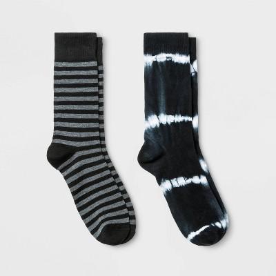 Men's Novelty Crew Socks 2pk - Goodfellow & Co™ 7-12