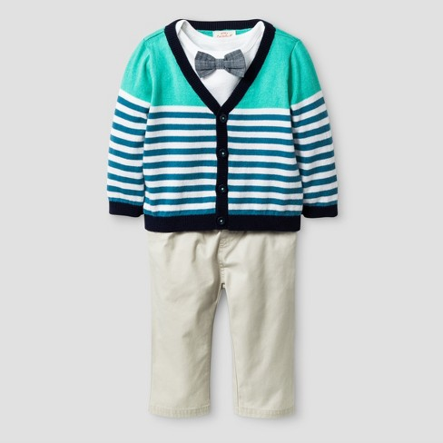 cb92b9eeb Baby Boys  3pc Stripe Cardigan