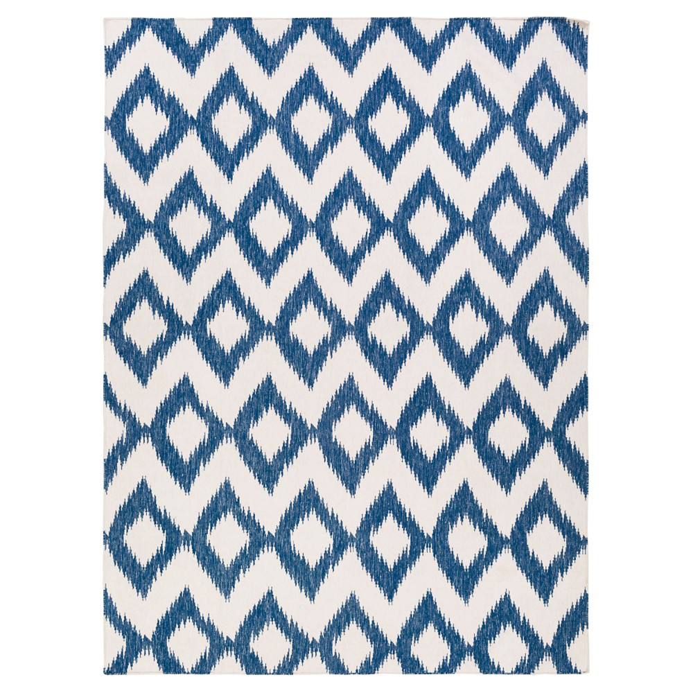 Blue Solid Woven Area Rug - (8'X11') - Surya