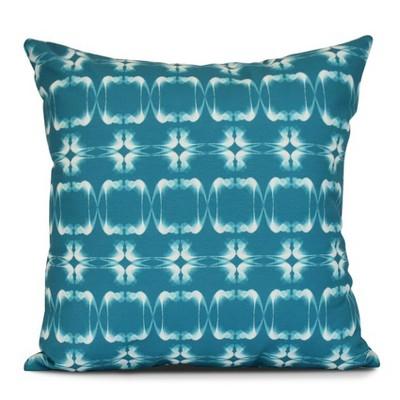 Teal Summer Picnic Print Pillow Throw Pillow (16 x16 )- E by Design