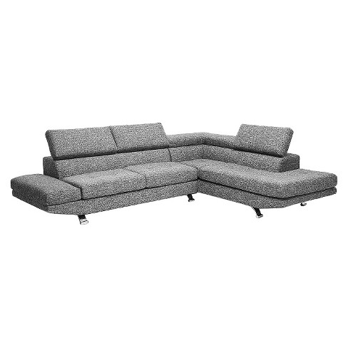 Adelaide Twill Fabric Modern Sectional Sofa - Gray - Baxton Studio - image 1 of 3