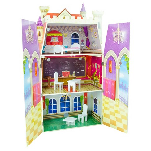 Teamson Kids Fancy Castle Doll House With 10pcs Furniture - image 1 of 7