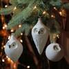 "NORTHLIGHT 3ct Glass Owl Christmas Ornament Set 6.25"" - White/Black - image 2 of 2"
