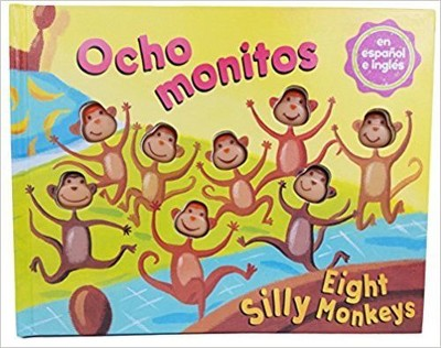 Eight Silly Monkeys Bilingual Book (Hardcover)(Steve Haskamp)