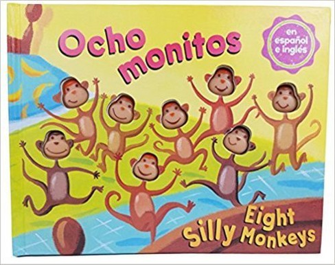 Eight Silly Monkeys Bilingual Book (Hardcover) (Steve Haskamp) - image 1 of 1