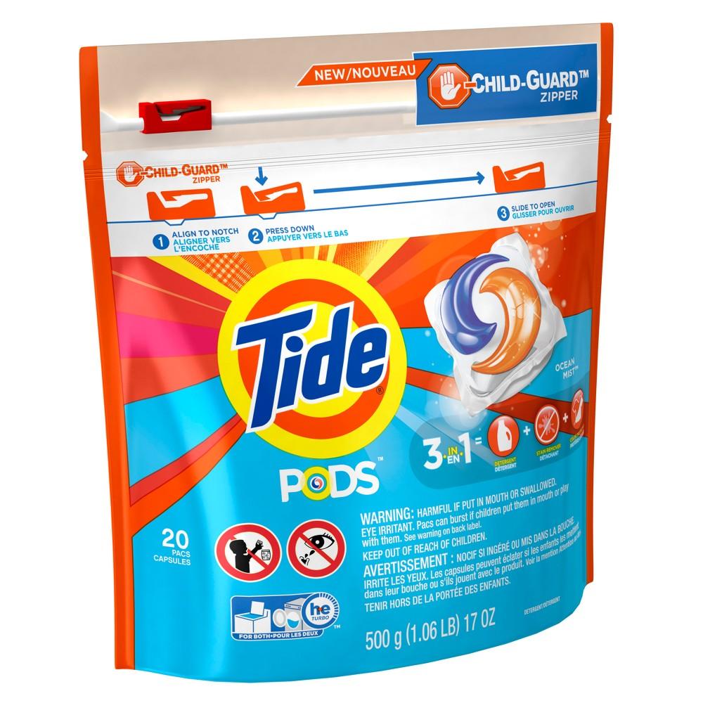 Tide Pods Ocean Mist Laundry Detergent Pods - 20ct