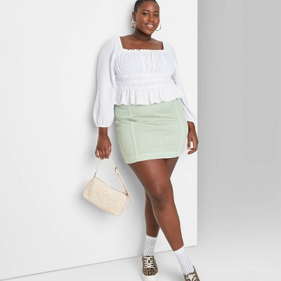 Women's Seamed Denim Mini Skirt - Wild Fable™