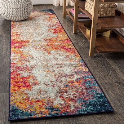 Contemporary POP Modern Abstract Vintage Waterfall Area Rug - JONATHAN Y