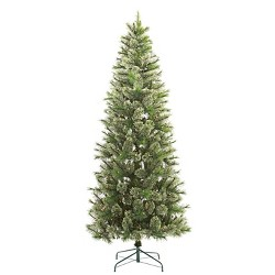 7.5ft Pre-lit Artificial Christmas Tree Slim Virginia Pine Clear Lights - Wondershop™