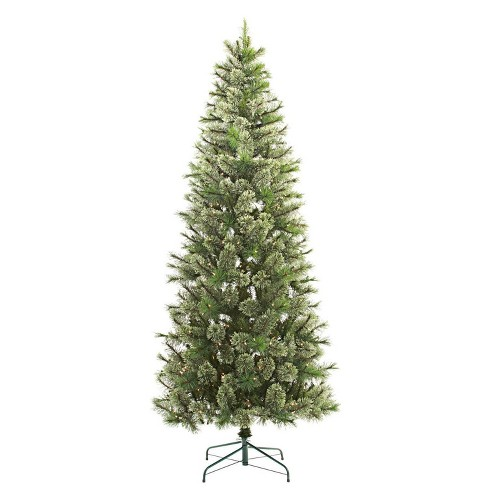 innovative design e27d9 fee49 7.5ft Pre-lit Artificial Christmas Tree Slim Virginia Pine Clear Lights -  Wondershop™