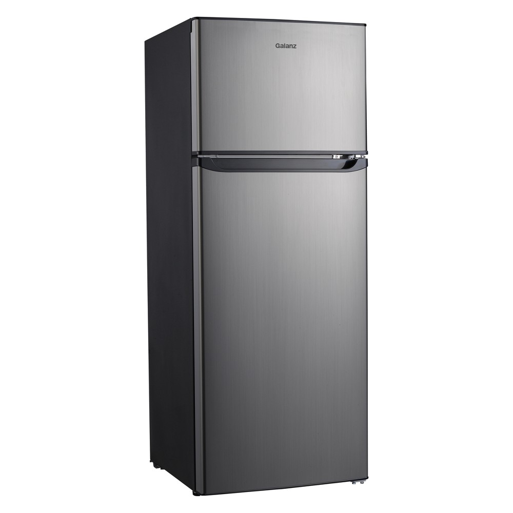 Image of Galanz 7.6 cu ft Compact Refrigerator - Stainless Steel GL76S1E, Silver