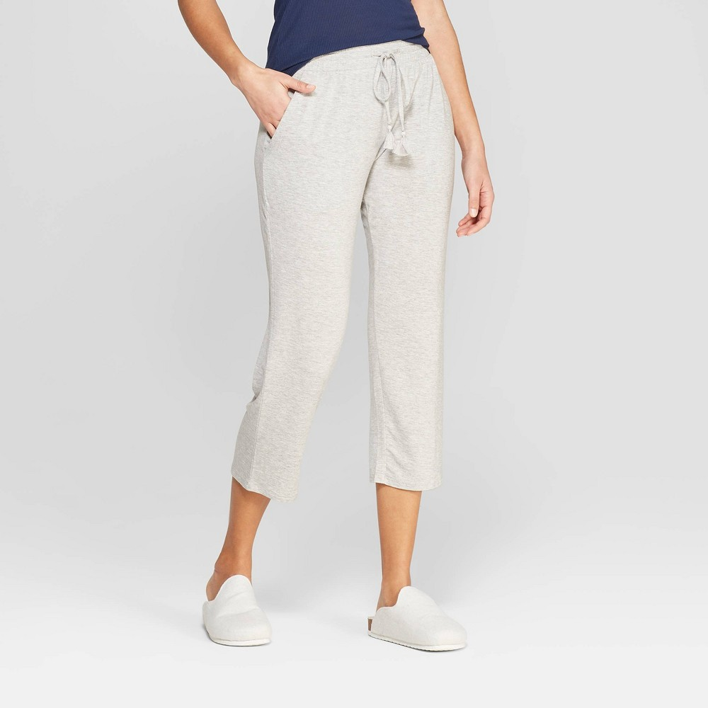 Women's Beautifully Soft Crop Pajama Pants - Stars Above Gray S