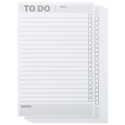 Paper Junkie 6 Pack To Do List Notepad, Daily Planner Notebook, Grocery Shopping List Memo Note Pad Checklist 8.5x5.5