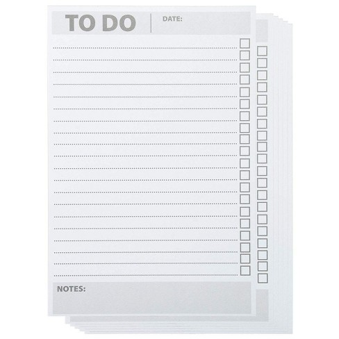 Paper Junkie 6 Pack To Do List Notepad, Daily Planner Notebook, Grocery Shopping List Memo Note Pad Checklist 8.5x5.5 - image 1 of 4