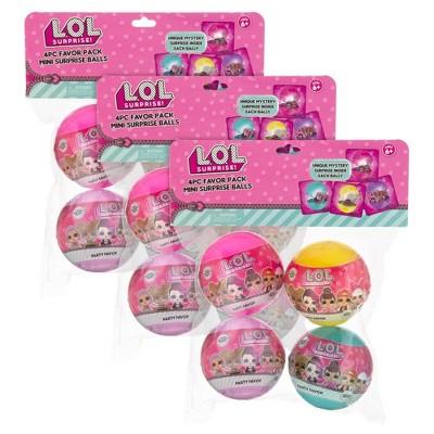 L.O.L. Surprise! 12pk Mini Surprise Party Balls with Necklaces Inside