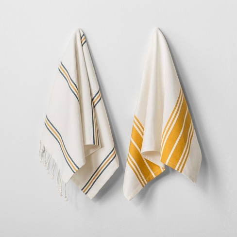 Kitchen Towel Set of 2 - Gold - Hearth & Hand™ with Magnolia - image 1 of 2