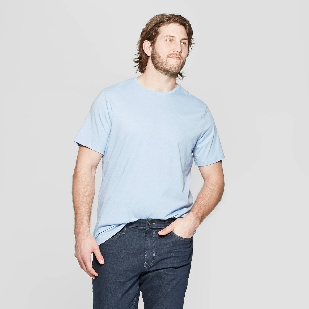 Men's Big & Tall Standard Fit Short Sleeve Lyndale Crew T-Shirt - Goodfellow & Co Breaktime Blue 5XBT