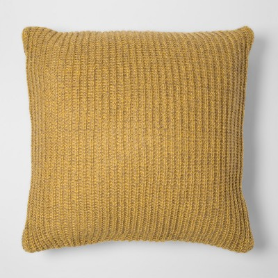 Yellow Knit Oversize Square Throw Pillow - Project 62™