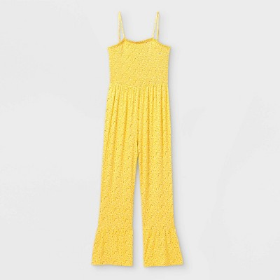 Girls' Smocked Jumpsuit - art class™ Yellow