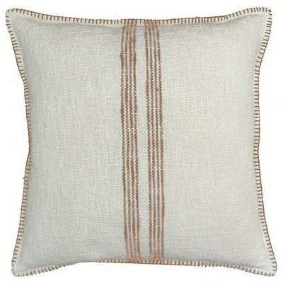 Woven Striped Oversized Square Throw Pillow Tan/Cream - Threshold™