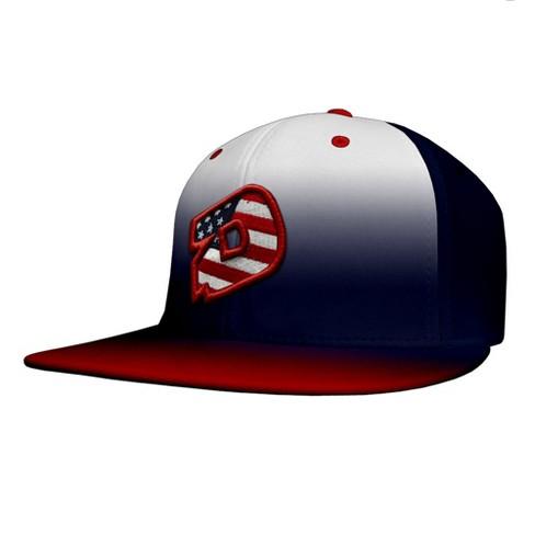 4f4d970f3b9d8 DeMarini D Logo USA Fade Flat Bill Baseball Softball Flex-Fit Hat   Target