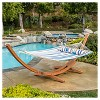 Grand Cayman Patio Hammock - Teak and Multistripe - Christopher Knight Home - image 2 of 4