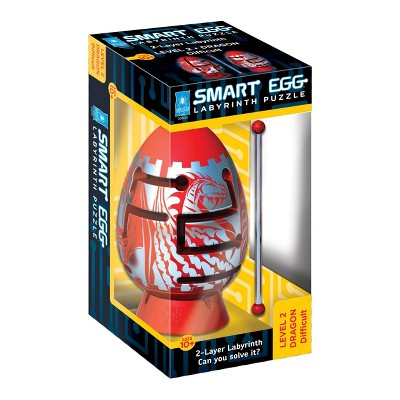 Smart Egg 2-Layer Labyrinth Puzzle - Red Dragon: Difficult Brainteaser