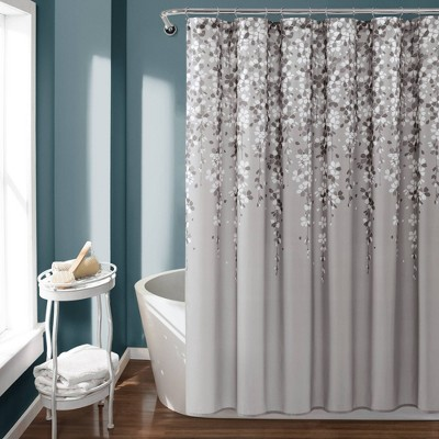 Weeping Flower Shower Curtain Gray - Lush Décor
