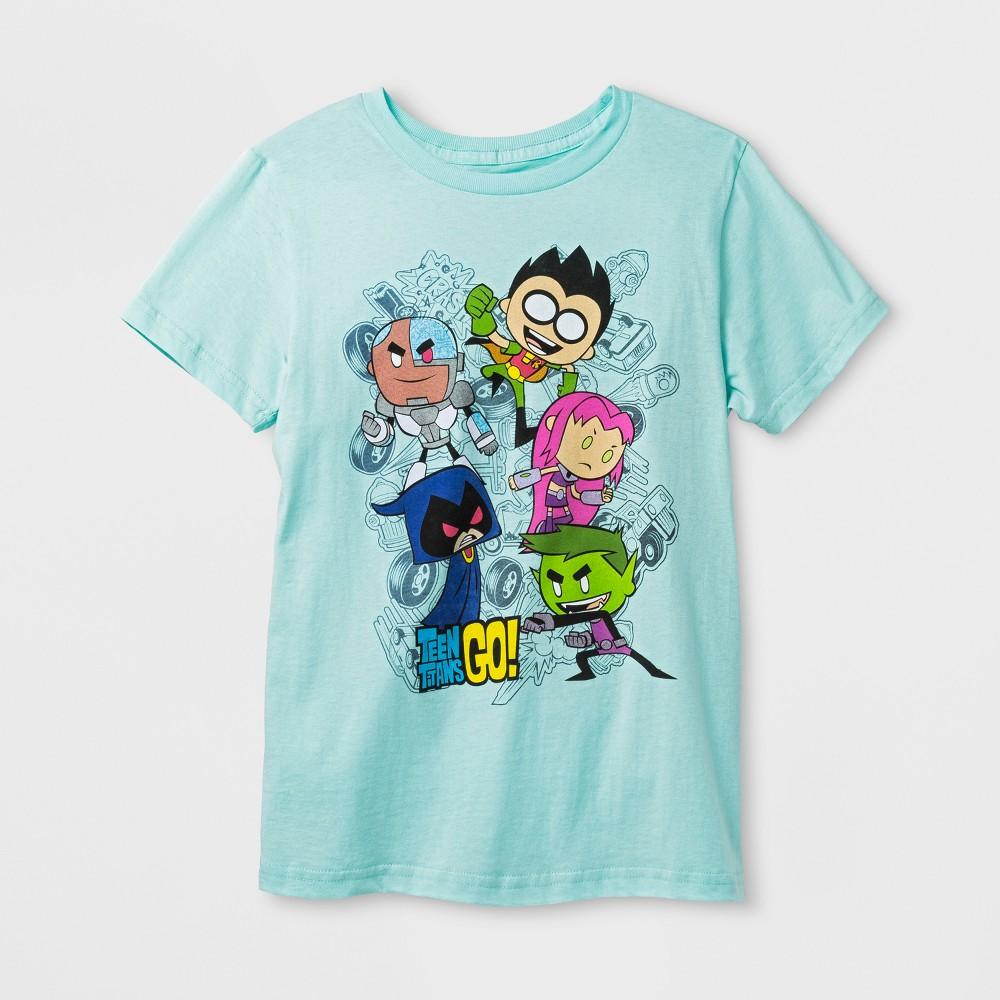 Boys' Teen Titans Go! Short Sleeve T-Shirt - Light Blue M