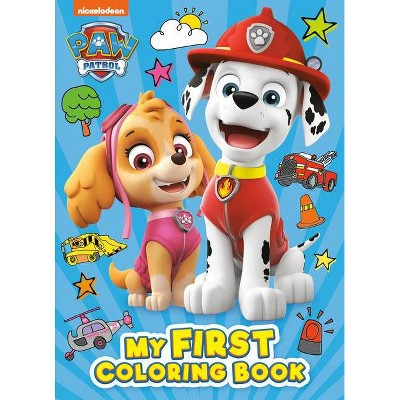 Paw Patrol: My First Coloring Book (paw Patrol) - (paperback) : Target