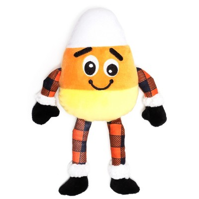 The Worthy Dog Buffalo Candy Corn Toy - Orange - One Size