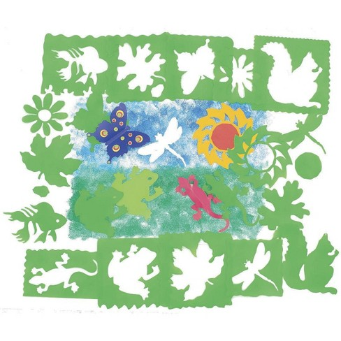 Roylco Nature Stencils, Assorted Sizes, Green, set of 10 - image 1 of 1