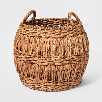 Woven Water Hyacinth Basket Large - Threshold™