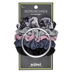 Conair Scunci Everyday & Active No Damage Scrunchies With Keeper - 5pk