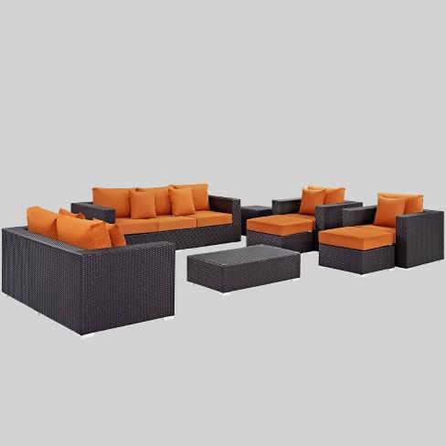 Convene 9pc Outdoor Patio Sofa Set - Modway - image 1 of 2