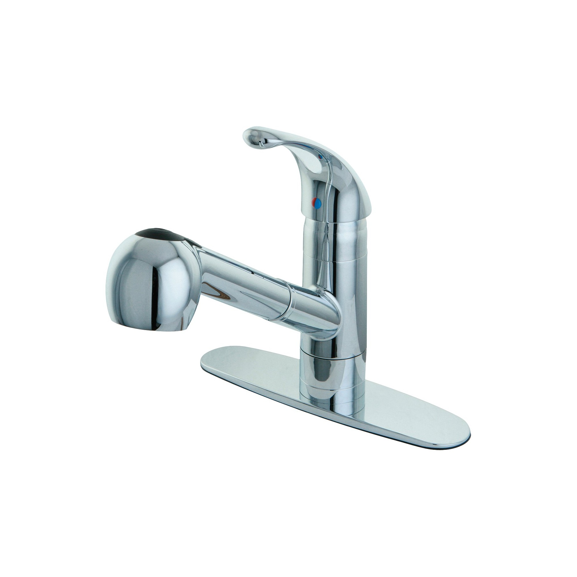 Pull-Out Sprayer Kitchen Faucet Chrome - Kingston Brass, Grey