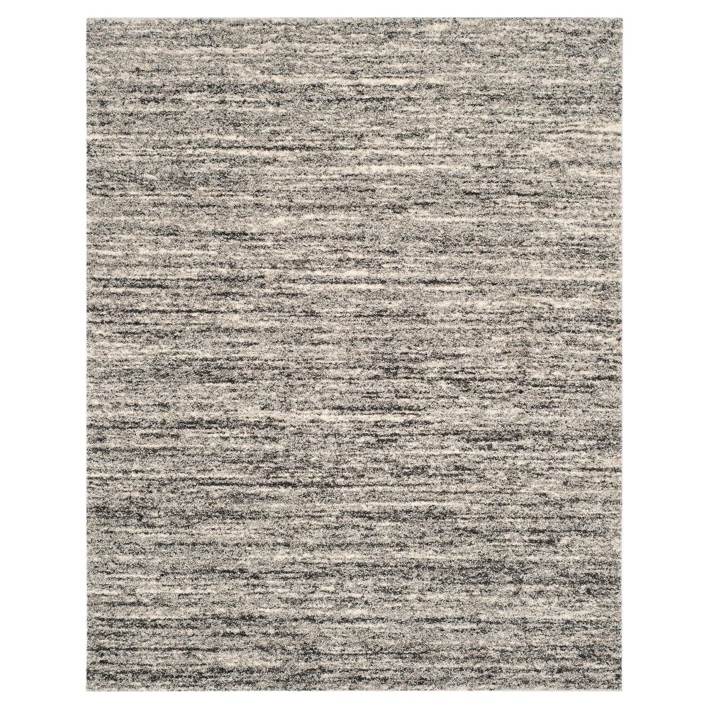 Ivory/Gray Abstract Shag/Flokati Loomed Area Rug - (8'X10') - Safavieh